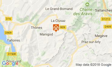 Map Manigod-Croix Fry/L'étale-Merdassier Apartment 115080