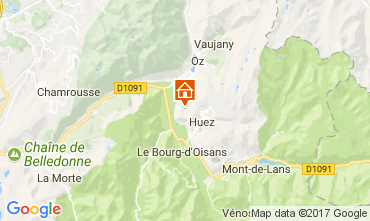 Map Alpe d'Huez Apartment 67048