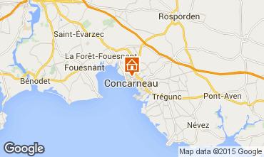 Map Concarneau Studio apartment 84656