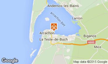 Map Arcachon Studio apartment 73087