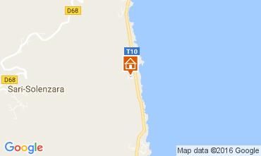 Map Solenzara Villa 82552
