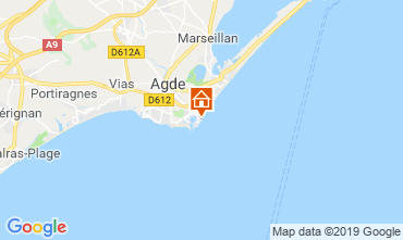 Map Cap d'Agde Apartment 33425