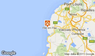 Map Flic-en-Flac Apartment 81616