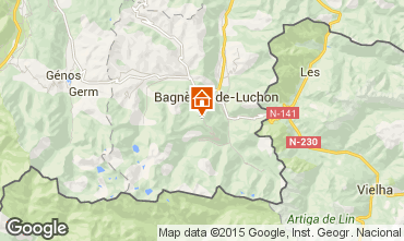 Map Luchon Superbagneres Studio apartment 68305