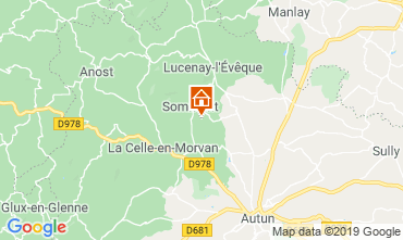 Map Autun Self-catering property 112323