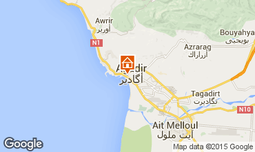 Map Agadir Apartment 61035