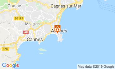 Map Juan les Pins Apartment 16441