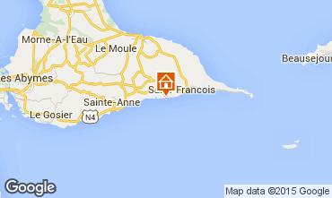 Map Saint Francois Studio apartment 62479