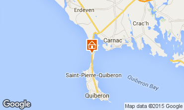 Map Saint Pierre Quiberon Apartment 73569