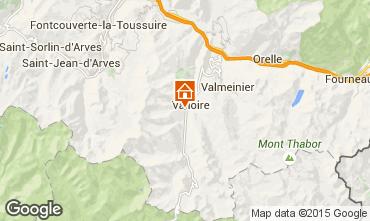 Map Valloire Chalet 23134