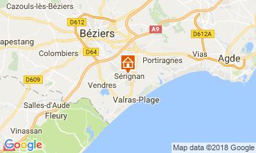 Map Sérignan House 114493