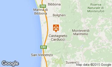 Map Castagneto Carducci Apartment 90103