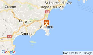 Map Antibes Apartment 107452