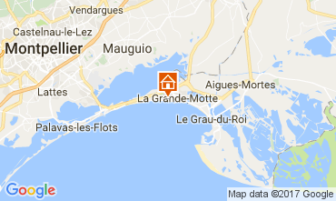 Map La Grande Motte Apartment 110356