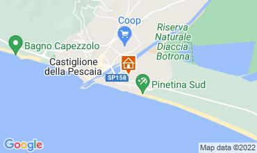 Map Castiglione della Pescaia Apartment 57966