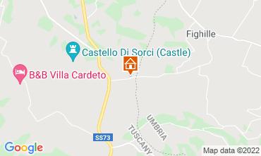 Map Anghiari Villa 116579