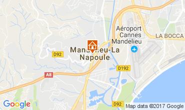 Map Mandelieu la Napoule Studio apartment 67791