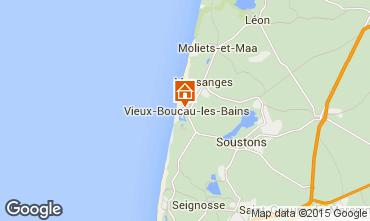 Map Vieux Boucau Apartment 54490