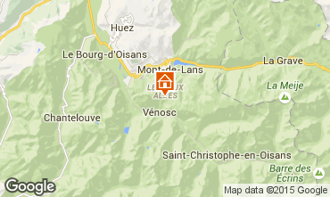 Map Les 2 Alpes Apartment 91727