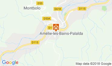 Map Amélie-Les-Bains Apartment 105866