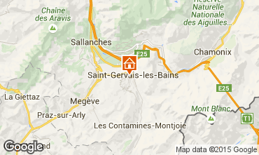 Map Saint Gervais Mont-Blanc Studio apartment 2546