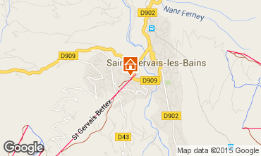 Map Saint Gervais Mont-Blanc Studio apartment 2546