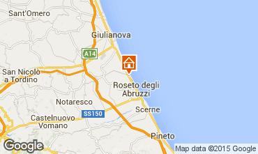 Map Roseto degli Abruzzi Apartment 51249