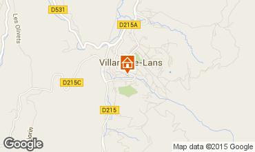 Map Villard de Lans - Corrençon en Vercors Apartment 3704