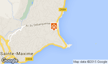 Map Sainte Maxime Villa 8541