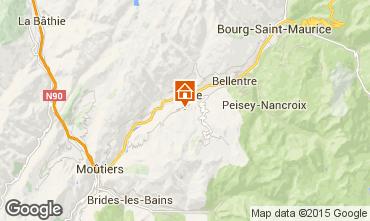 Map La Plagne Apartment 28942
