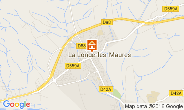 Map La Londe les Maures Apartment 84705