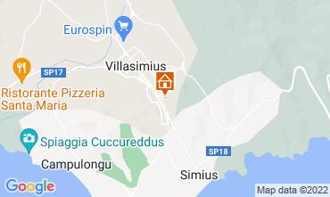 Map Villasimius Apartment 61164
