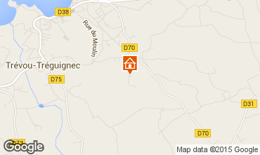 Map Perros-Guirec Self-catering property 96475