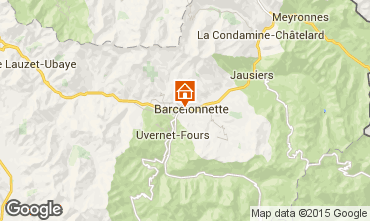 Map Barcelonnette Chalet 68406