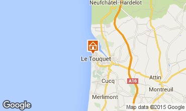 Map Le Touquet Studio apartment 71644