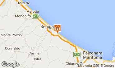Map Senigallia Apartment 63340