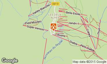Map Les 2 Alpes Apartment 49459