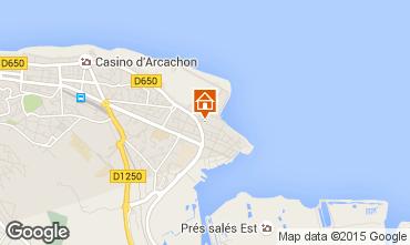 Map Arcachon Studio apartment 6610