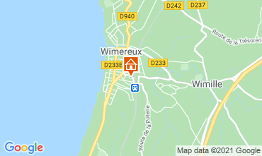 Map Wimereux Self-catering property 95721