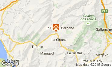 Map La Clusaz Chalet 84818