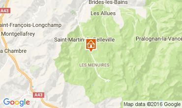 Map Les Menuires Chalet 91424