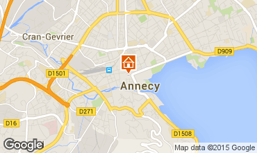 Map Annecy Apartment 30857