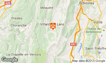 Map Villard de Lans - Corrençon en Vercors Self-catering property 3696