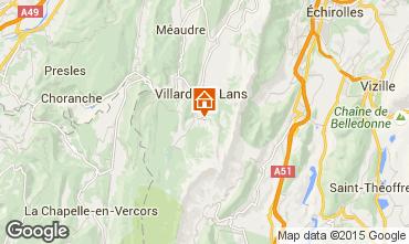 Map Villard de Lans - Corrençon en Vercors Self-catering property 3696