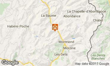 Map Saint Jean d'Aulps- La Grande Terche Studio apartment 43163