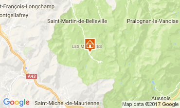 Map Les Menuires Mobile home 80670