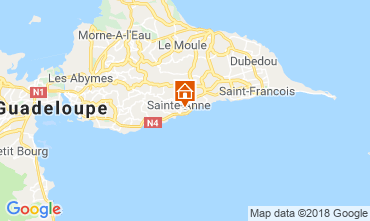 Map Sainte Anne (Guadeloupe) Bungalow 117399