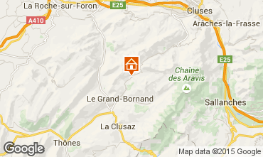 Map Le Grand Bornand Chalet 1363
