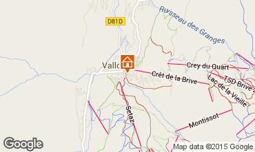 Map Valloire Apartment 26150