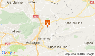Map Auriol Self-catering property 88967
